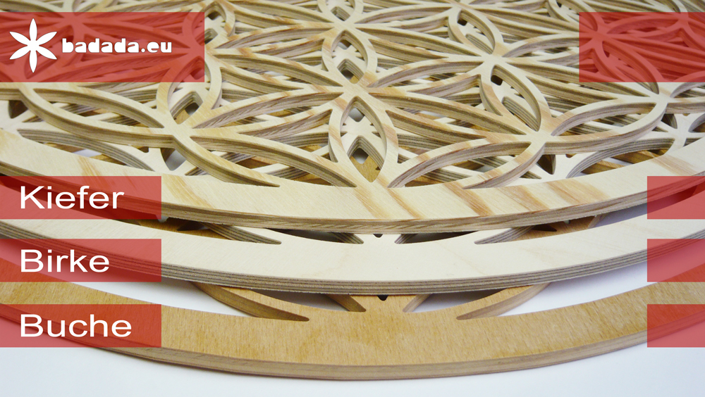 material und verarbeitung siegerblume des lebens. Black Bedroom Furniture Sets. Home Design Ideas