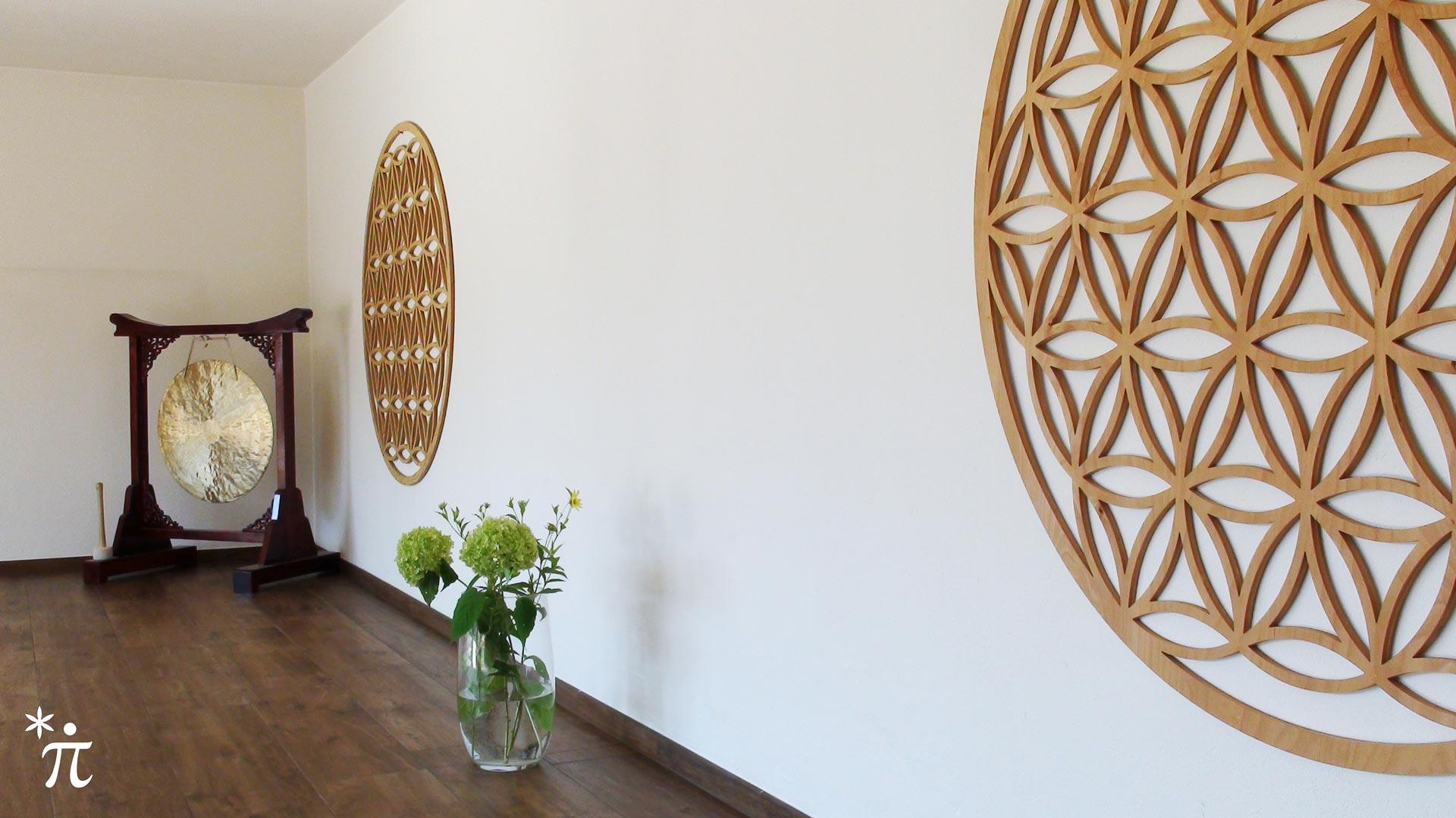 Blume des Lebens Wandbild Holz