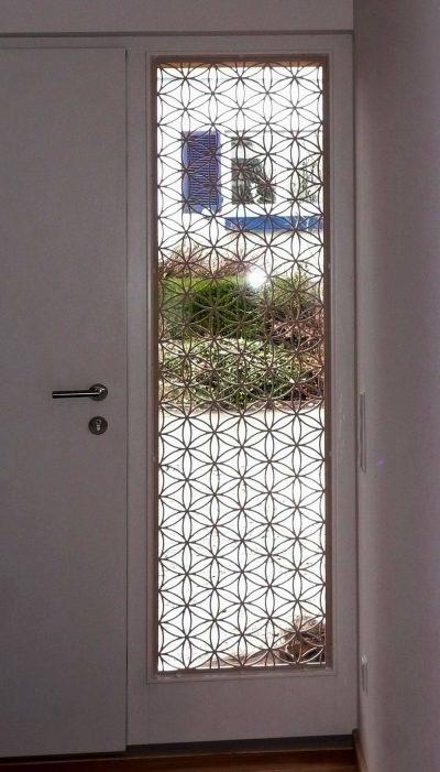Blume des Lebens Holz Sonderanfertigung Türfenster